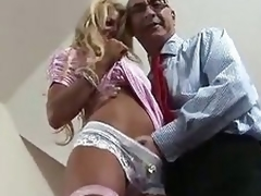 Blonde British MILF enticed for some fucking