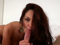 Ava Adams is a feisty dark brown MILF with a mind blowing body and a skilled mouth. Just see this cougar seduce, then engulf off, a ready juvenile stud. Its a bit of a dying art.