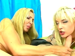Its clear that blond wench Tristyn Kennedy takes after her mommy Lisa DeMarco. The same big boobs, the same ball-draining oral skills  its all there for you to match!