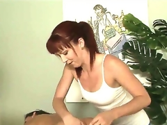 Tough masseuse Trinity Post can't stop rubbing Stephanie Swifts perfectly smooth and round buttocks here in this vid. The babe rocks ass too good even for a str8 girl to resist!