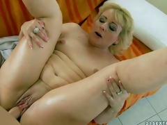Fuck hungry aged blonde Barbie with petite tits and hairless pussy receives team-fucked hardcore style by her young fuck buddy. Lad drills her wet experienced vagina in a diversity of poses