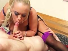 Juvenile man eats out her mature twat and ass