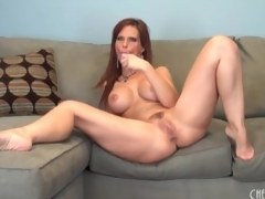 Curvy solo mamma with fake mambos has toy sex