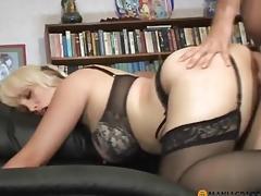 Bonks woman in lingerie