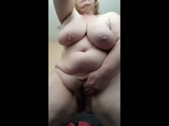 Lascivious Housewife soaked and cumming for you after shower