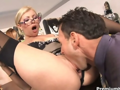 Office bitch Donna Bell gets rammed