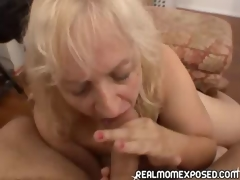 Mature woman receives a warm facial!