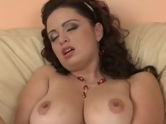 Busty Grown up Layman Sirale Masturbates