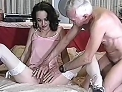 Nice-looking milf is doing a great job on his dick