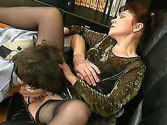 Experienced aged honey getting her ripe snatch licked and drilled hard